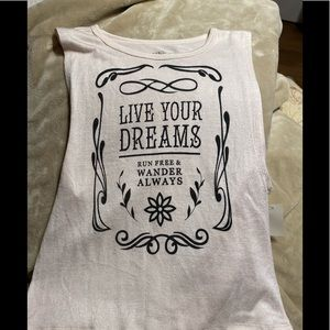 NWT Live your dreams tank